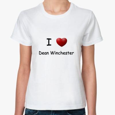 Классическая футболка I Love Dean