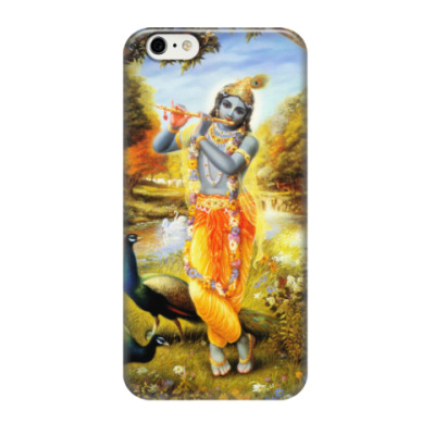 Чехол для iPhone 6/6s Кришна с флейтой