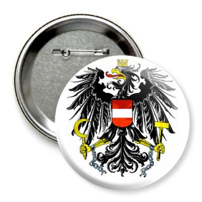 Значок 75мм Герб Австрии