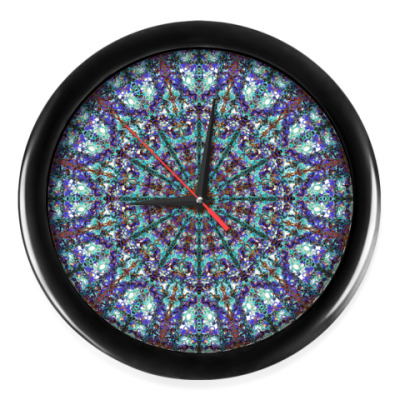 Настенные часы узор мандала,ажур,марокко,lace,кружево,яркий