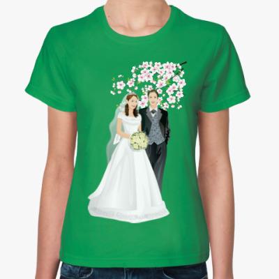 Женская футболка свадьба