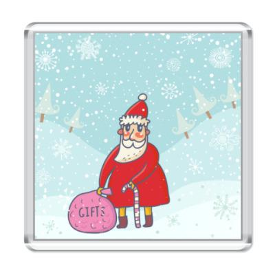 Магнит Дед мороз и подарки