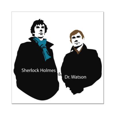 Наклейка (стикер) Sherlock Holmes & Dr. Watson