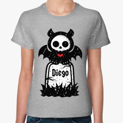 Женская футболка Диего Надгробие