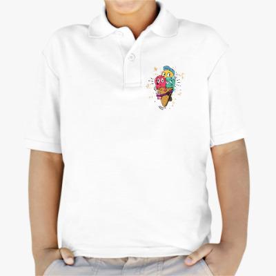 Детская рубашка поло Смешные шарики мороженного
