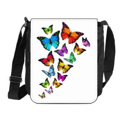 Сумка на плечо (мини-планшет) Бабочки