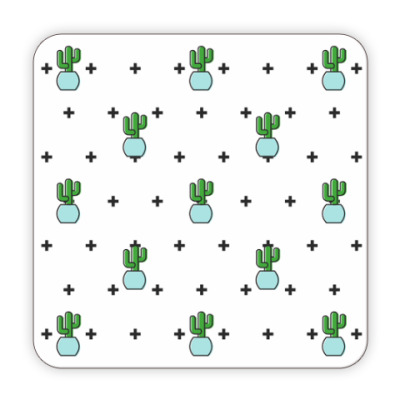 Костер (подставка под кружку) Cactus and Cross