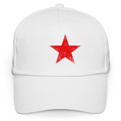 Кепка бейсболка Потертая Красная Звезда