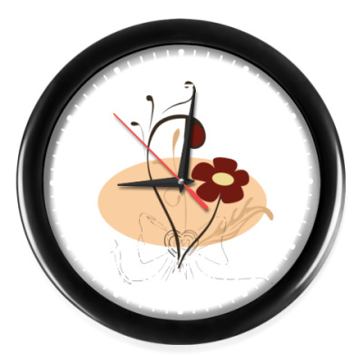 Часы Винтажный цветок