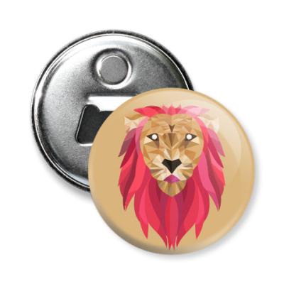Магнит-открывашка Лев / Lion