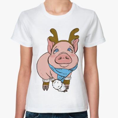 Классическая футболка Свинка