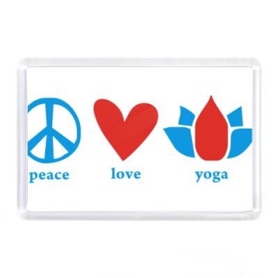 """Peace, Love, Yoga"""
