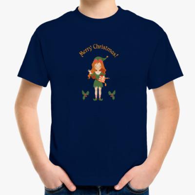 Детская футболка Рождественский эльф
