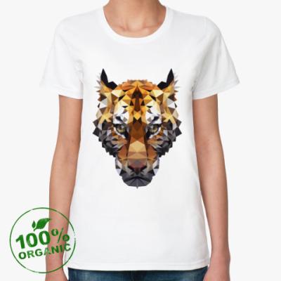 Женская футболка из органик-хлопка Тигр / Tiger