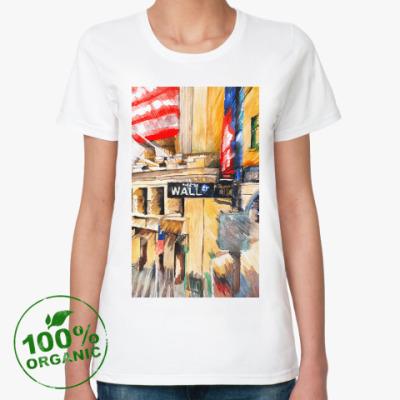 Женская футболка из органик-хлопка Уолл стрит