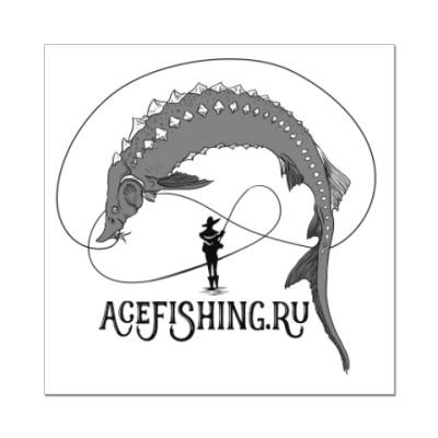 Наклейка (стикер) Acefishing