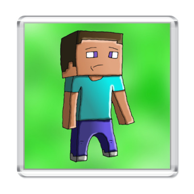 Магнит Minecraft Steve
