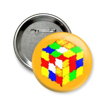 Значок 58мм Кубик Рубика