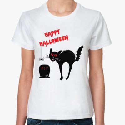Классическая футболка Ужасы Хэллоуин