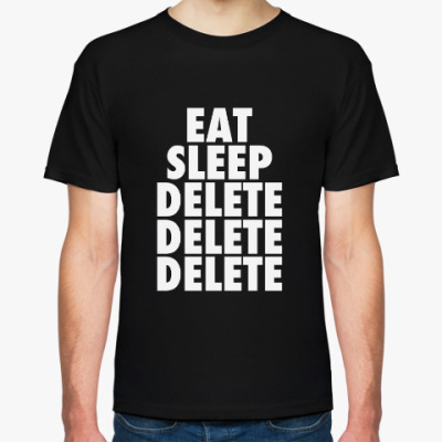 Футболка Broken Matt Hardy Eat Sleep Delete - OBSOLETE