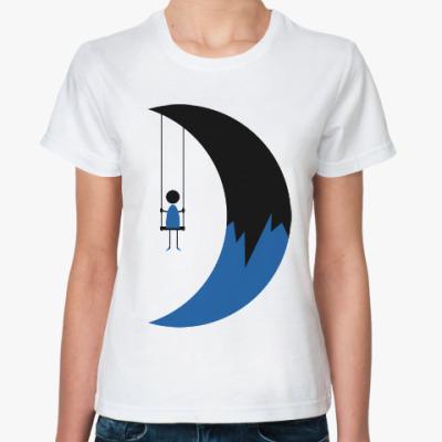 Классическая футболка Качели на Луне