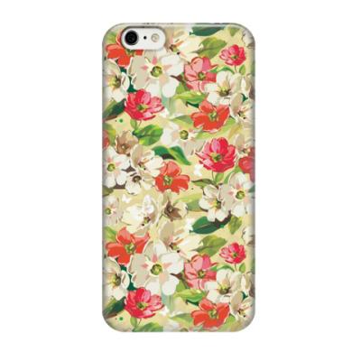 Чехол для iPhone 6/6s Акварельные цветы