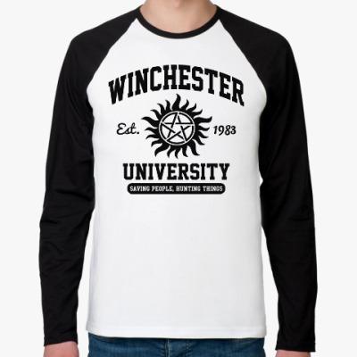 Футболка реглан с длинным рукавом Winchester University