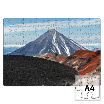 Пазл Вулканы, летний пейзаж полуострова Камчатка