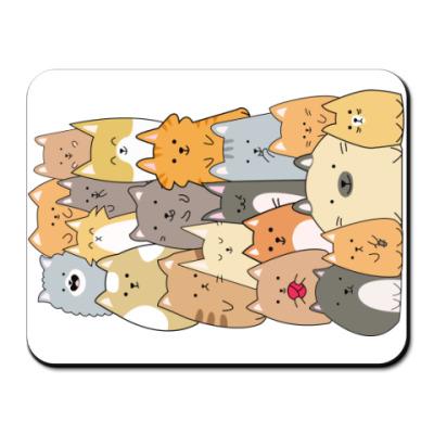 Коврик для мыши Смешные коты (funny cats)