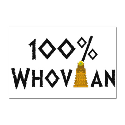 Наклейка (стикер) 100% Whovian Далек Доктор Кто