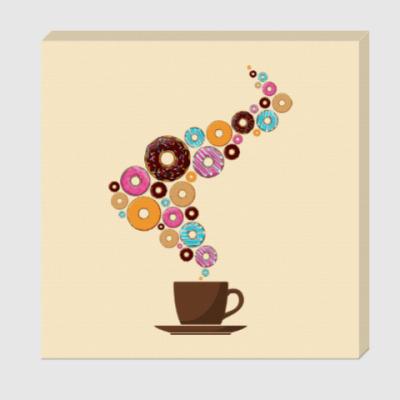 Холст Кофе с пончиками