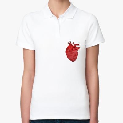 Женская рубашка поло Сердце 3D
