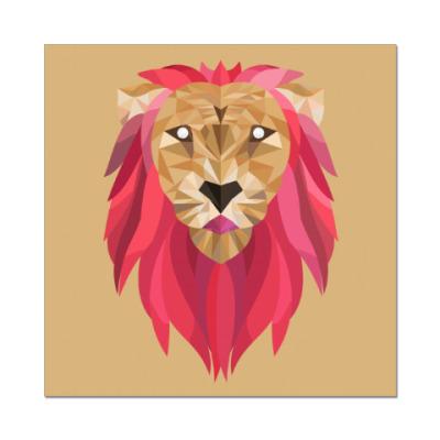 Наклейка (стикер) Лев / Lion