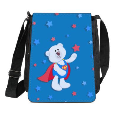 Сумка-планшет медвежонок-супергерой