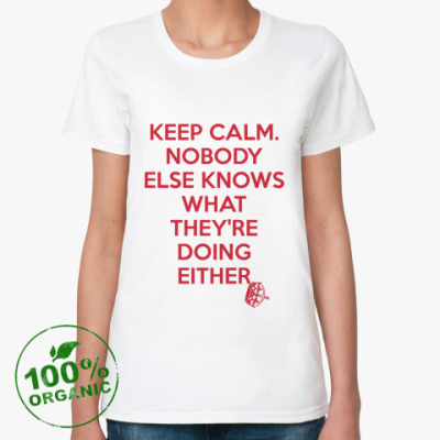 Женская футболка из органик-хлопка KEEP CALM [NEW]