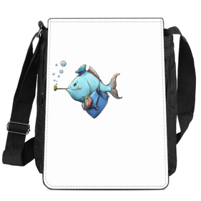 Сумка-планшет  'Почтовая рыба'