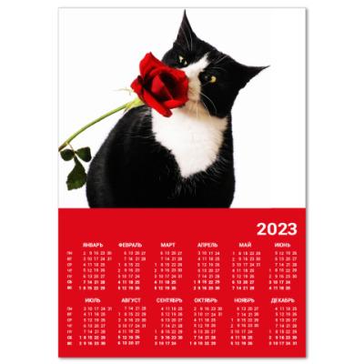 Календарь КОТ и РОЗА