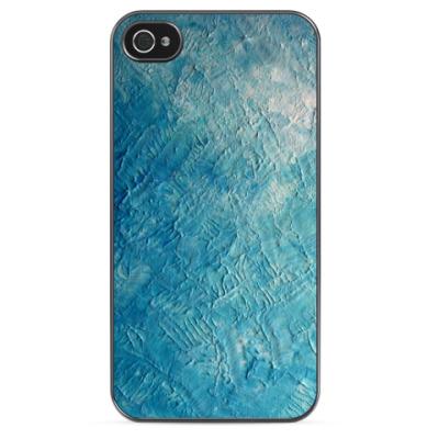 Чехол для iPhone Синяя краска