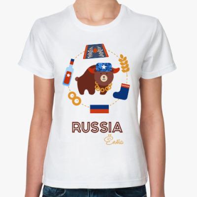 Классическая футболка Russia, Ёпта