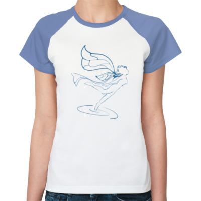 Женская футболка реглан Крылатая фея