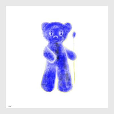 Постер Синий Мишка
