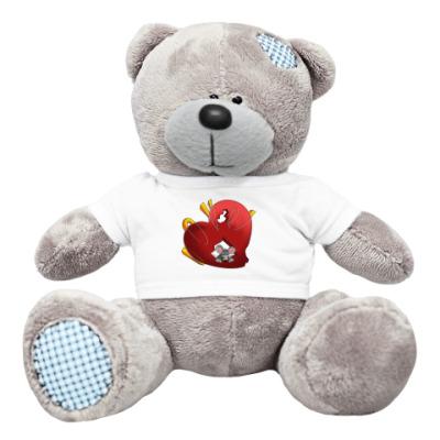 Плюшевый мишка Тедди мышка с валентинкой
