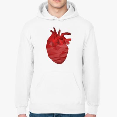Толстовка худи Сердце 3D