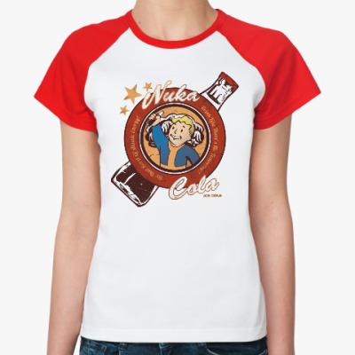 Женская футболка реглан Fallout Nuka Cola Vault Boy