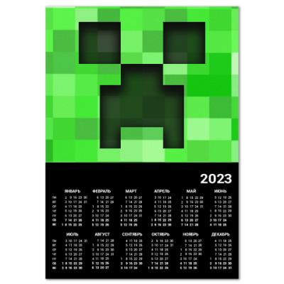 Календарь Minecraft Creeper