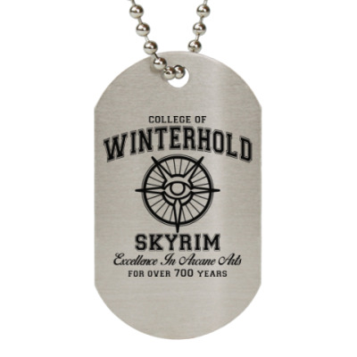 Жетон dog-tag Skyrim . College of Winterhold