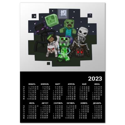 Календарь Minecraft