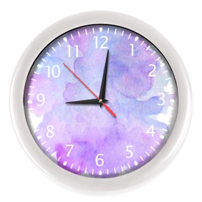 Настенные часы Акварельный фон