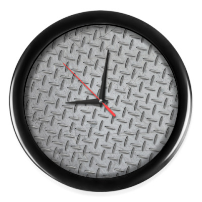 Настенные часы Массивная рифленая сталь