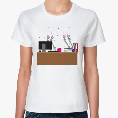 Классическая футболка Зомби единорог